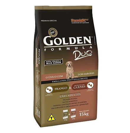 Ração Golden Duo para Cães Adultos Sabor Frango e Carne