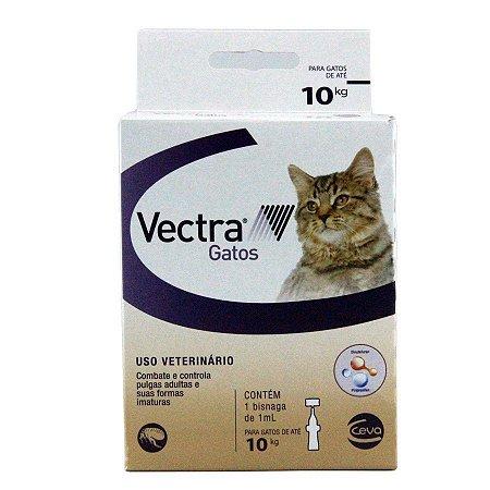 Vectra Antipulgas Gatos até 10kg Ceva