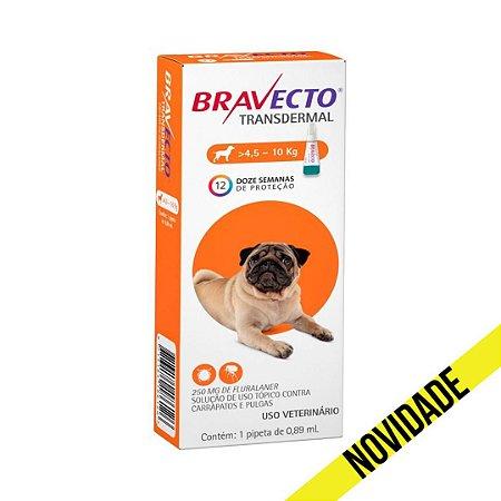 Antipulgas e Carrapatos Bravecto Transdermal MSD para Cães 4,5 a 10kg