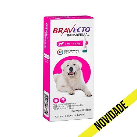 Antipulgas e Carrapatos Bravecto Transdermal MSD para Cães 40 a 56kg