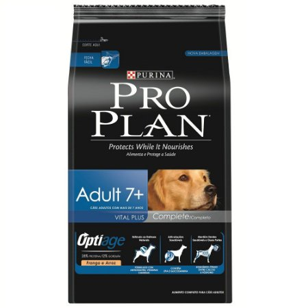 Ração ProPlan para Cães Adultos 7+ Sabor Frango e Arroz - 15kg