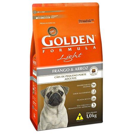 Ração Golden Fórmula Mini Bits Light para Cães Adultos de Pequeno Porte Sabor Frango e Arroz