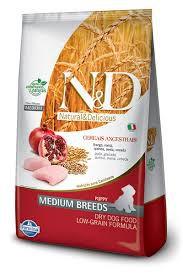 Ração Farmina N&D Ancestral Grain para Cães Filhotes de Raças Médias Sabor Frango e Romã - 2,5Kg