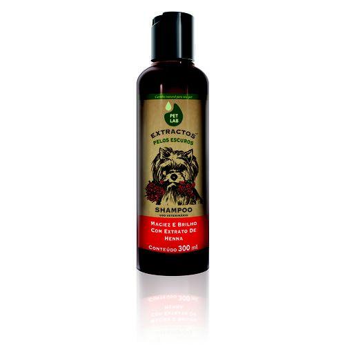 Petlab Extractos Shampoo Cães Com Pelos Escuros Henna 300ml