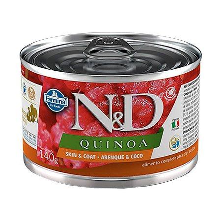 Ração Úmida N&D Quinoa para Cães Adultos Sabor Arenque 140g