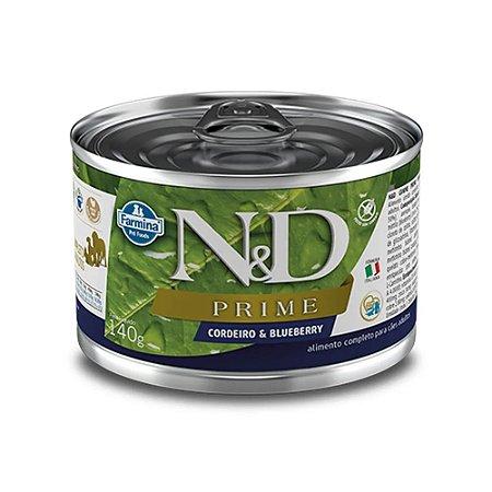 Ração Úmida N&D Prime para Cães Adultos Sabor Cordeiro e Blueberry140g
