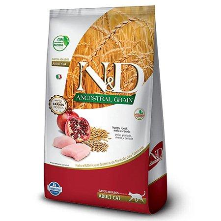 Ração N&D Ancestral Grain Gato Adulto Frango 7,5kgs