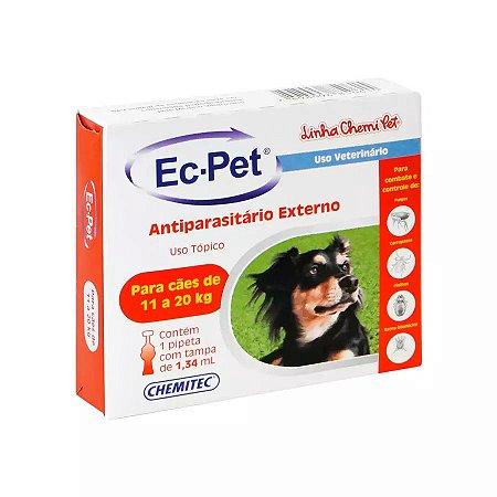 Antipulgas e Carrapaticida Ec-Pet Chemitec para Cães de 11 a 20kg