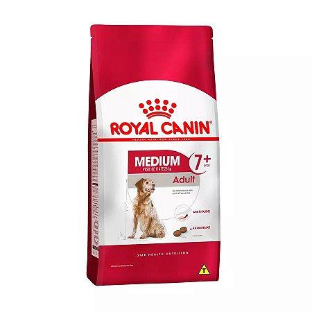 Ração Royal Canin Medium Adult 7+ para Cães Adultos de Raças Médias com 7 Anos ou mais - 15kgs