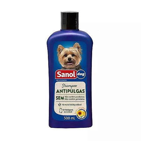 Shampoo Antipulgas Sanol Dog para Cães - 500ml