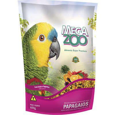 Ração Megazoo Papagaios Frutas e Legumes