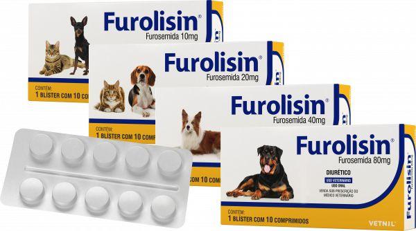 Diurético Furolisin para cães e gatos