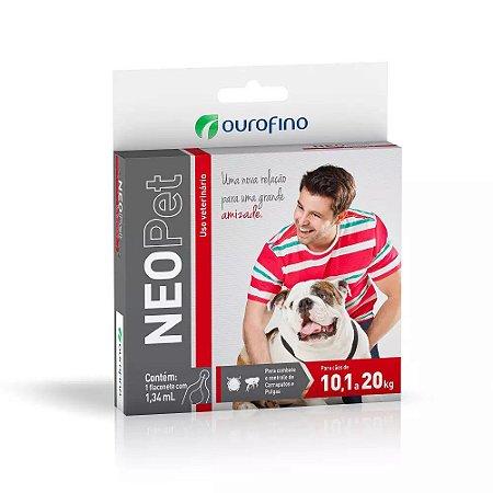 Antipulgas e Carrapatos Neopet Ourofino para Cães 10,1Kg a 20Kg