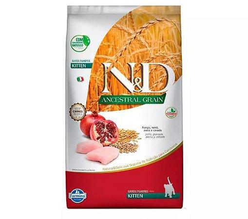 Ração Farmina N&D Ancestral Grain Frango Gatos Filhotes 1,5kg