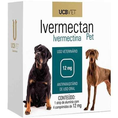 Antiparasitário UCBVET Ivermectan Pet para Cães 12mg