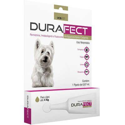 Antipulgas UCBVET Durafect para Cães até 4 Kg