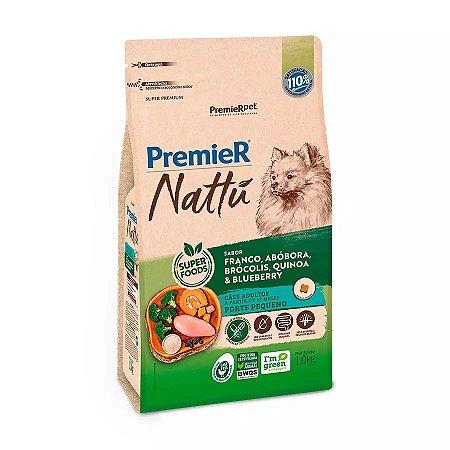 Ração Premier Nattu para Cães Adultos de Raças Pequenas Sabor Abóbora