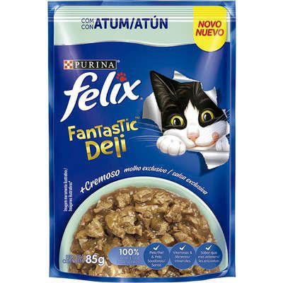 Ração Úmida Nestlé Purina Felix Fantastic Deli Atum para Gatos Adultos - 85g