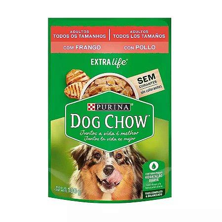 Ração Úmida Dog Chow Sachê para Cães Adultos sabor Frango 100g