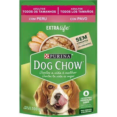 Ração Úmida Dog Chow Sabor Peru para Cães Adultos - 100g