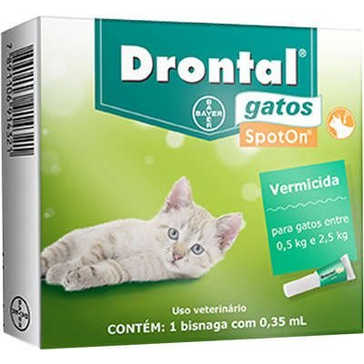 Vermífugo Drontal SpotOn para Gatos de 0,5 Kg a 2,5 Kg