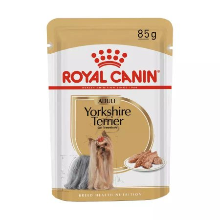 Ração Royal Canin Sachê Breed Health Nutrition Adult Wet para Yorkshire Terrier - 85g