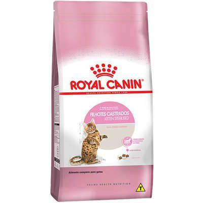 Ração Royal Canin Feline Kitten Sterilised 400g para Gatos Filhotes Castrados de 6 a 12 meses