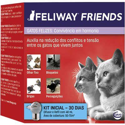 Feliway Friends Ceva Difusor Elétrico + Refil 48ml