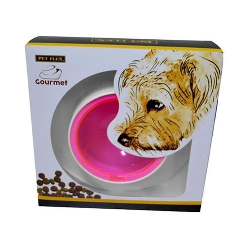 Comedouro/Bebedouro Pet Flex Gourmet - Rosa