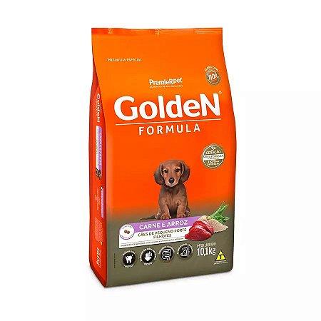 Ração Golden Fórmula Mini Bits para Cães Filhotes de Pequeno Porte Sabor Carne e Arroz