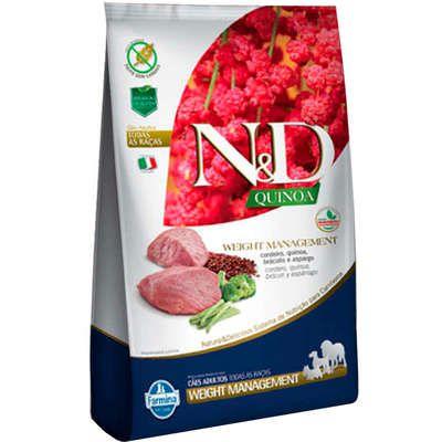 Ração Farmina N&D Quinoa Weight Management Cordeiro para Cães Adultos de Todas as Raças - 2,5kgs