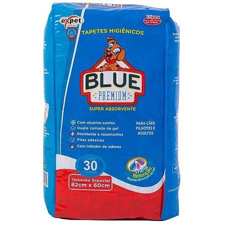 Tapete Higiênico Expet Blue Premium Para Cães c/ 30 unidades