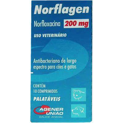 Antibacteriano Norflagen 200 mg - 10 Comprimidos
