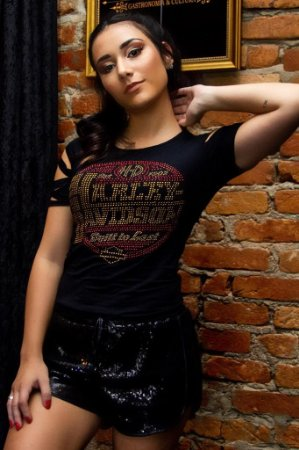 Camiseta Babylook Rock Harley Davidson