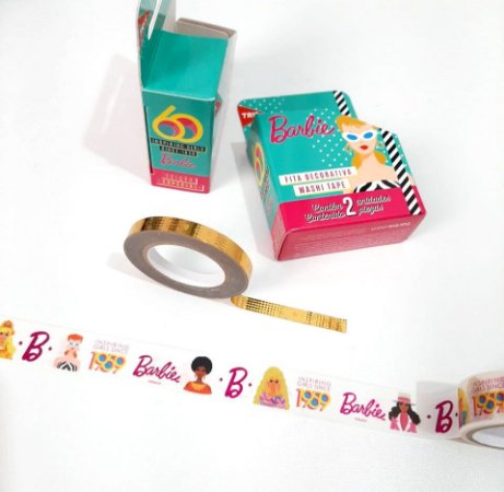 Kit Washi Tape Barbie Edição Comemorativa 60 anos
