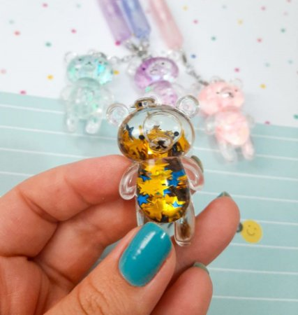 Caneta Ursinho Glitter
