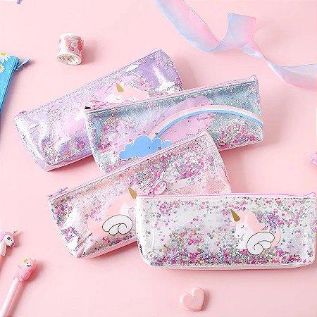 Estojo Glitter Girl Arco-Íris