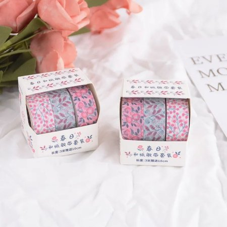 Kit 3 Washi Tapes Floral