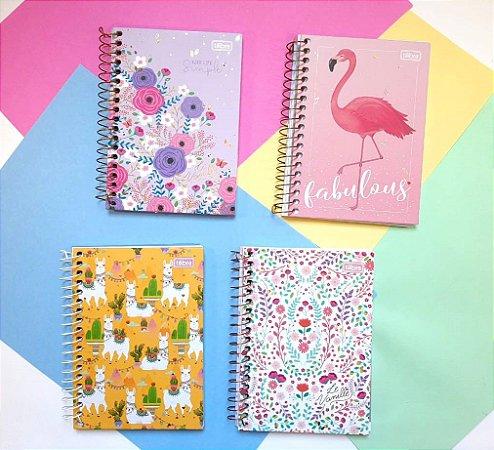 Cadernetas Tilibra Lhama Floral e Flamingos