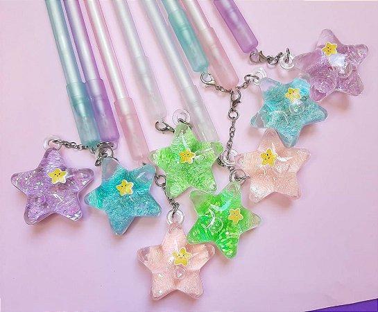 Caneta Estrela Glitter