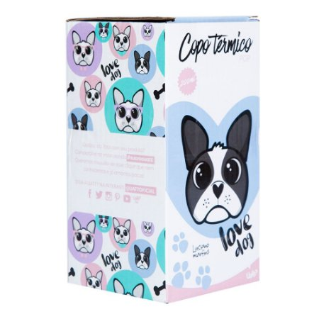 Copo Térmico Uatt Glitter Cachorro
