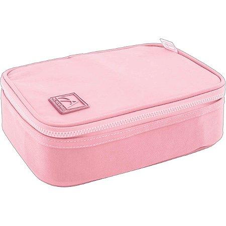 Estojo Box Tilibra 100 pens Académie Rosa e Pink Cereja