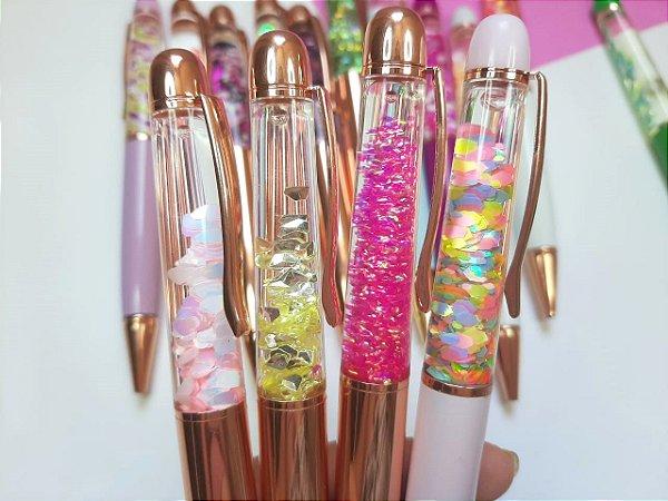 Caneta Luxo Glitter Coleção 2020