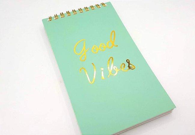Caderno Luxo Good Vibes