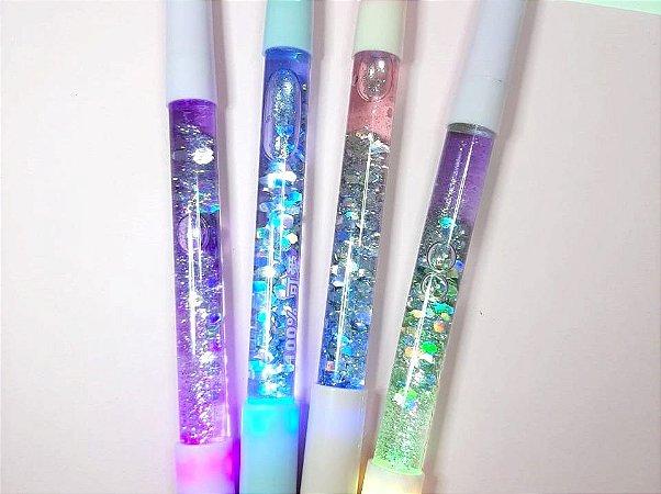 Caneta Glitter Com Luz