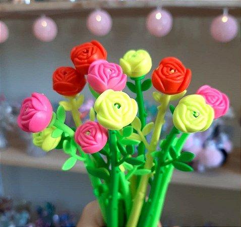 Caneta Flor Com Cheirinho de Rosas