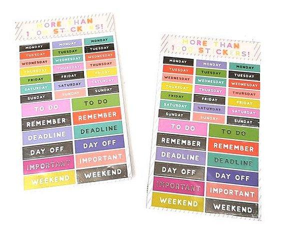 Sticker Book  Week Hema