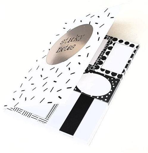 Sticky Notes Preto e Branco Hema