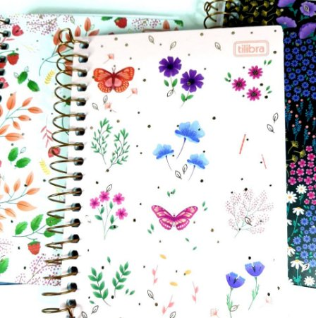 Caderneta Flor e Borboletas