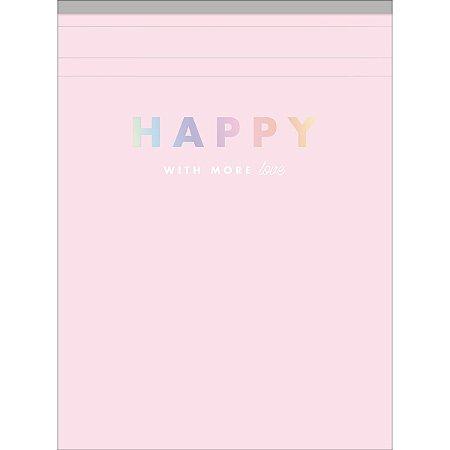 Bloco de Anotações Happy